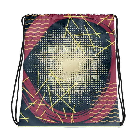 Abstract Pattern 18 All-Over Print Drawstring Bag