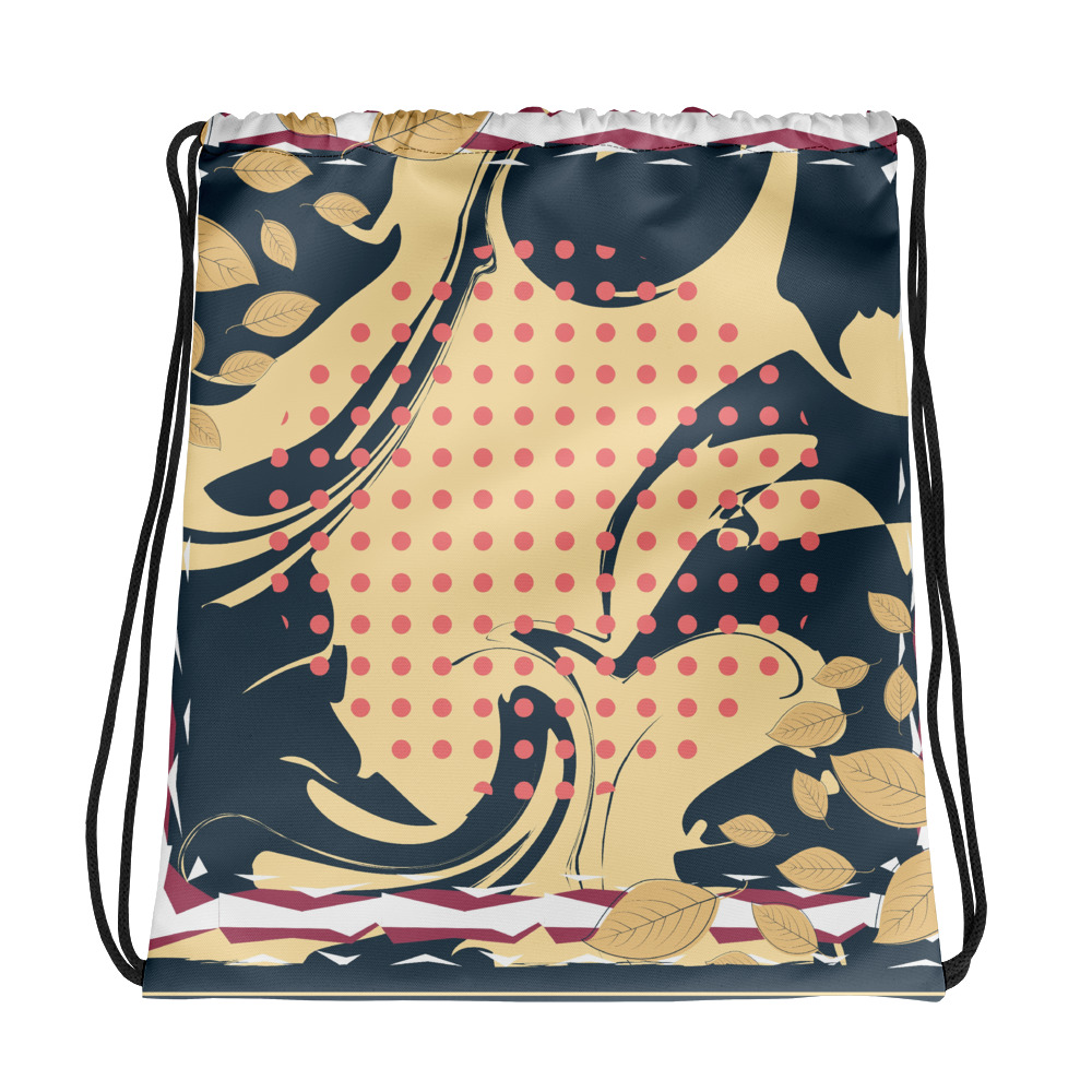 Abstract Pattern 19 All-Over Print Drawstring Bag