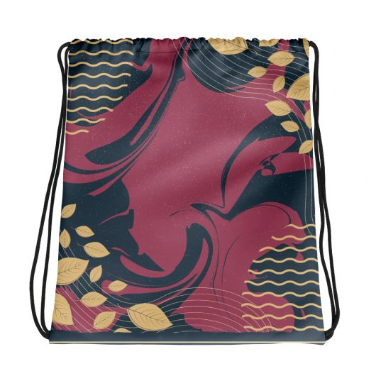 Abstract Pattern 20 All-Over Print Drawstring Bag
