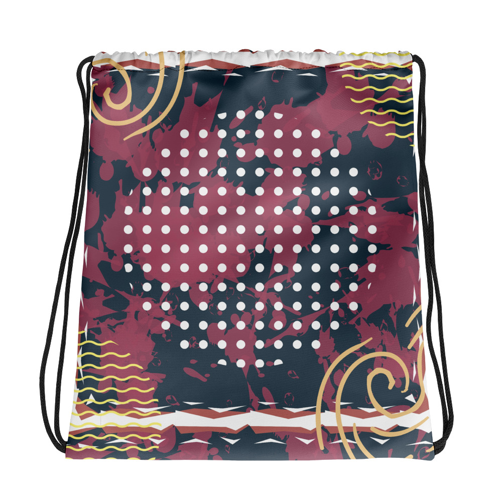 Abstract Pattern 21 All-Over Print Drawstring Bag