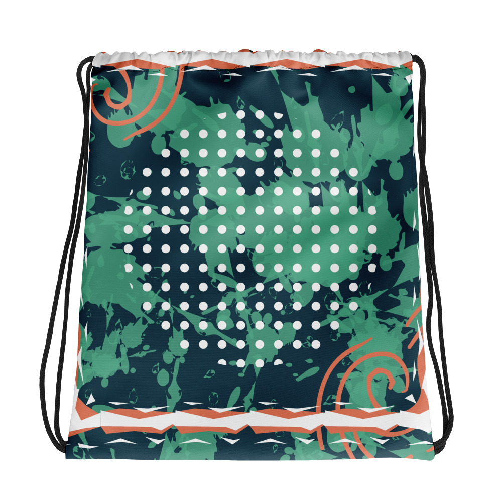Abstract Pattern 23 All-Over Print Drawstring Bag