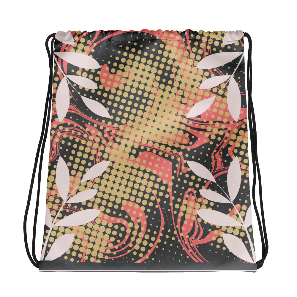 Abstract Pattern 24 All-Over Print Drawstring Bag