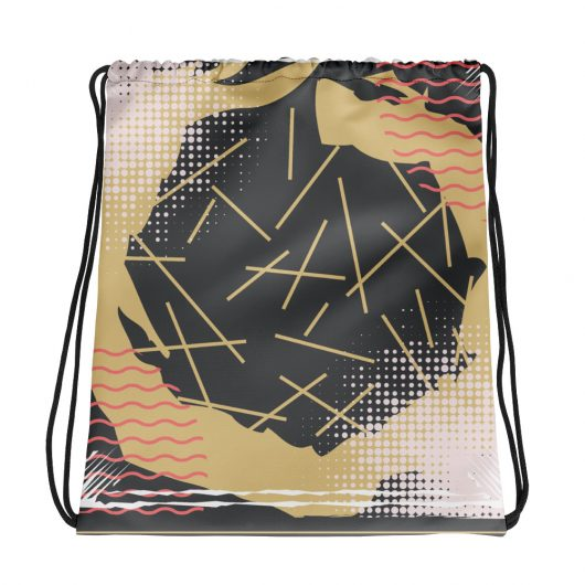 Abstract Pattern 26 All-Over Print Drawstring Bag