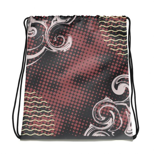 Abstract Pattern 25 All-Over Print Drawstring Bag