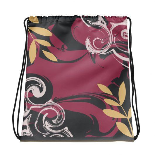 Abstract Pattern 29 All-Over Print Drawstring Bag