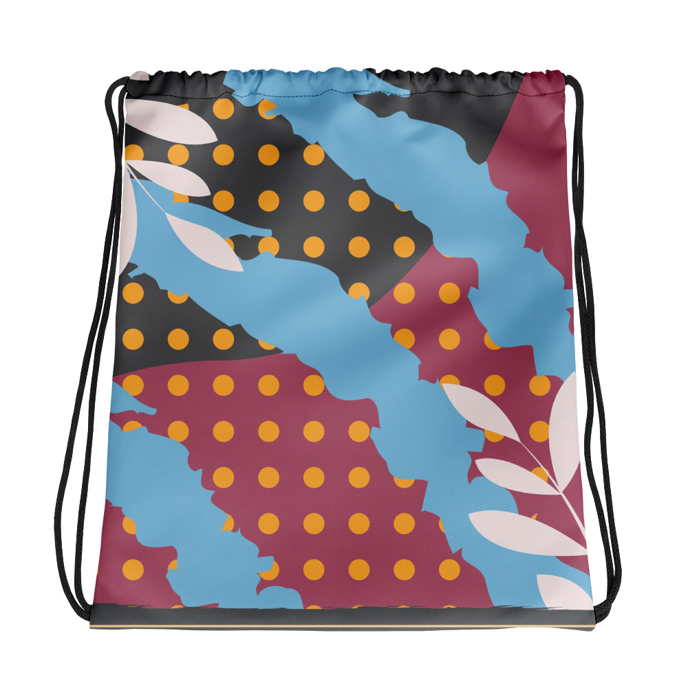 Abstract Pattern 30 All-Over Print Drawstring Bag