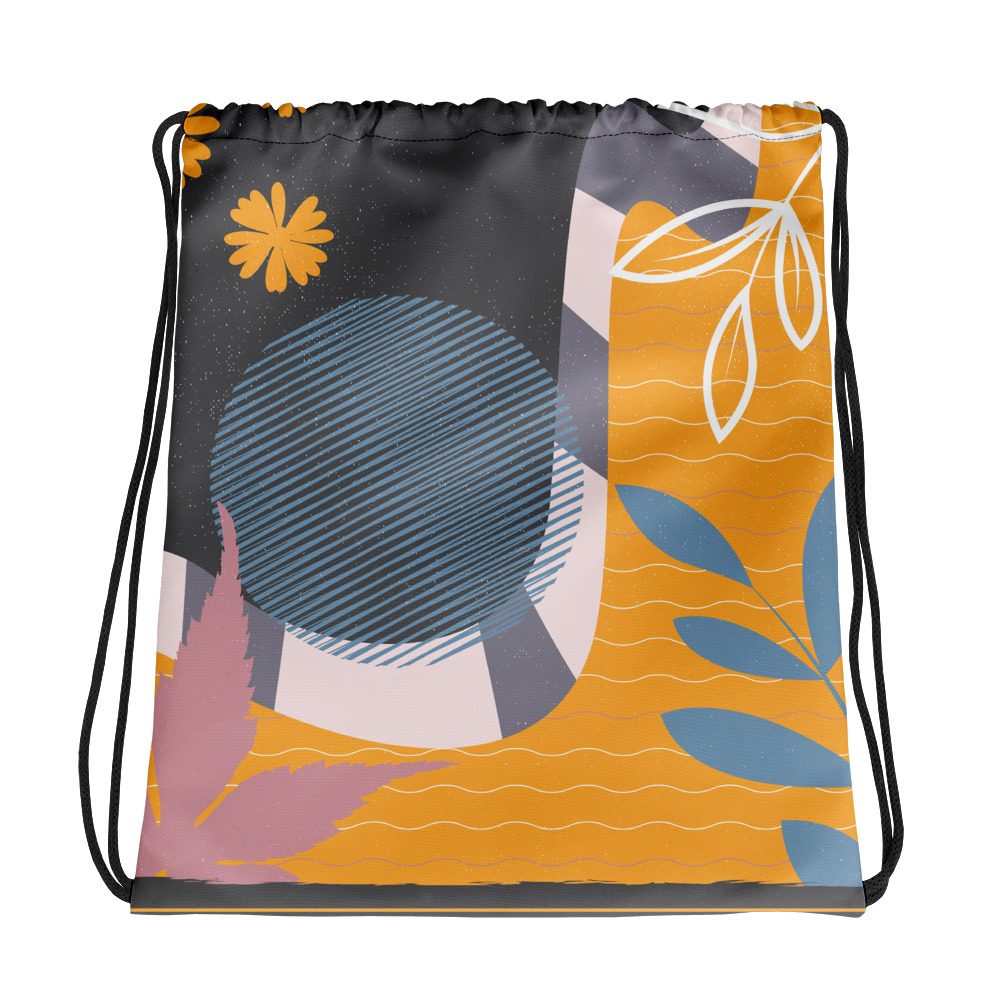 Abstract Pattern 31 All-Over Print Drawstring Bag