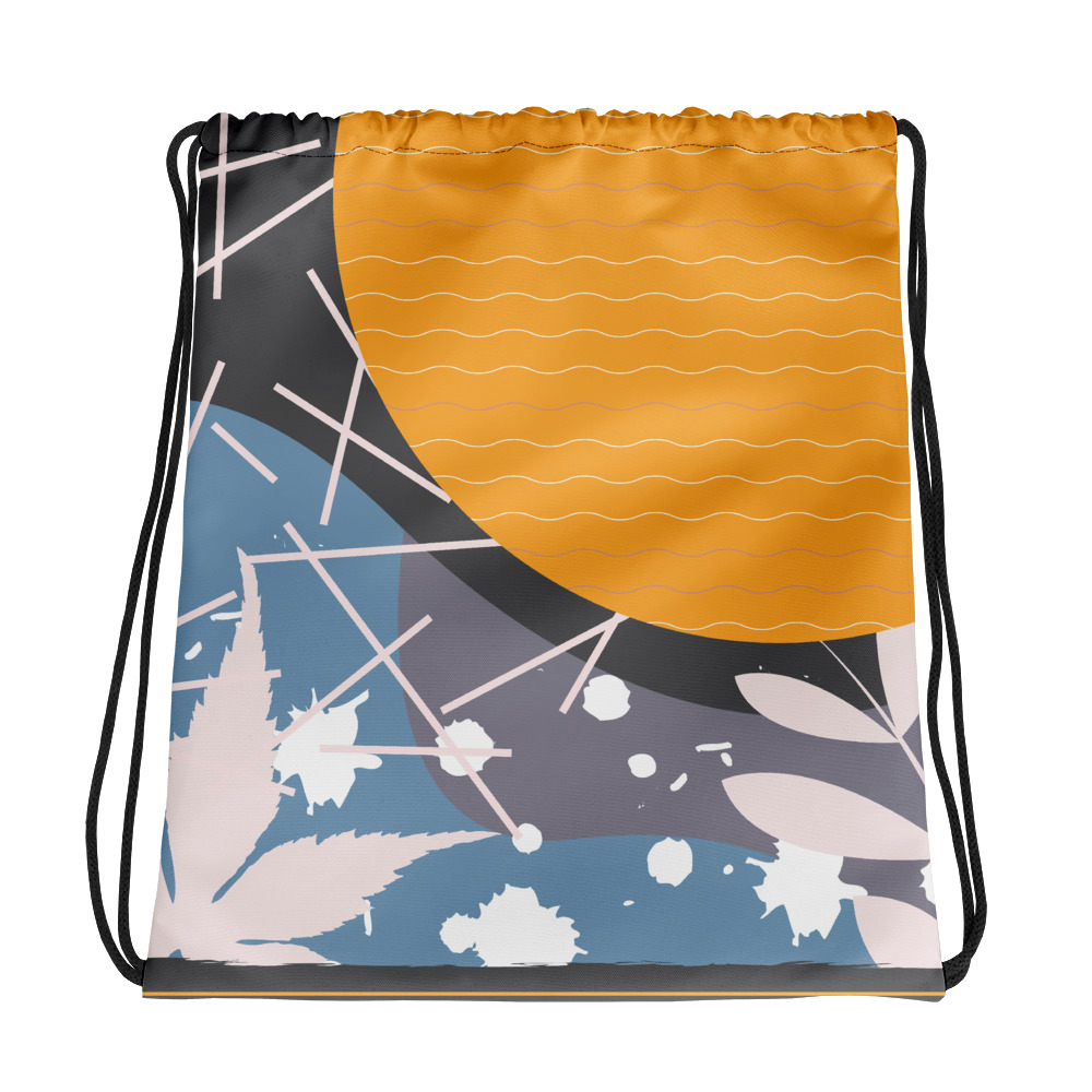 Abstract Pattern 32 All-Over Print Drawstring Bag