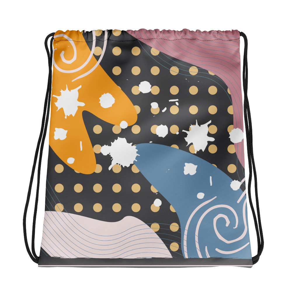 Abstract Pattern 33 All-Over Print Drawstring Bag