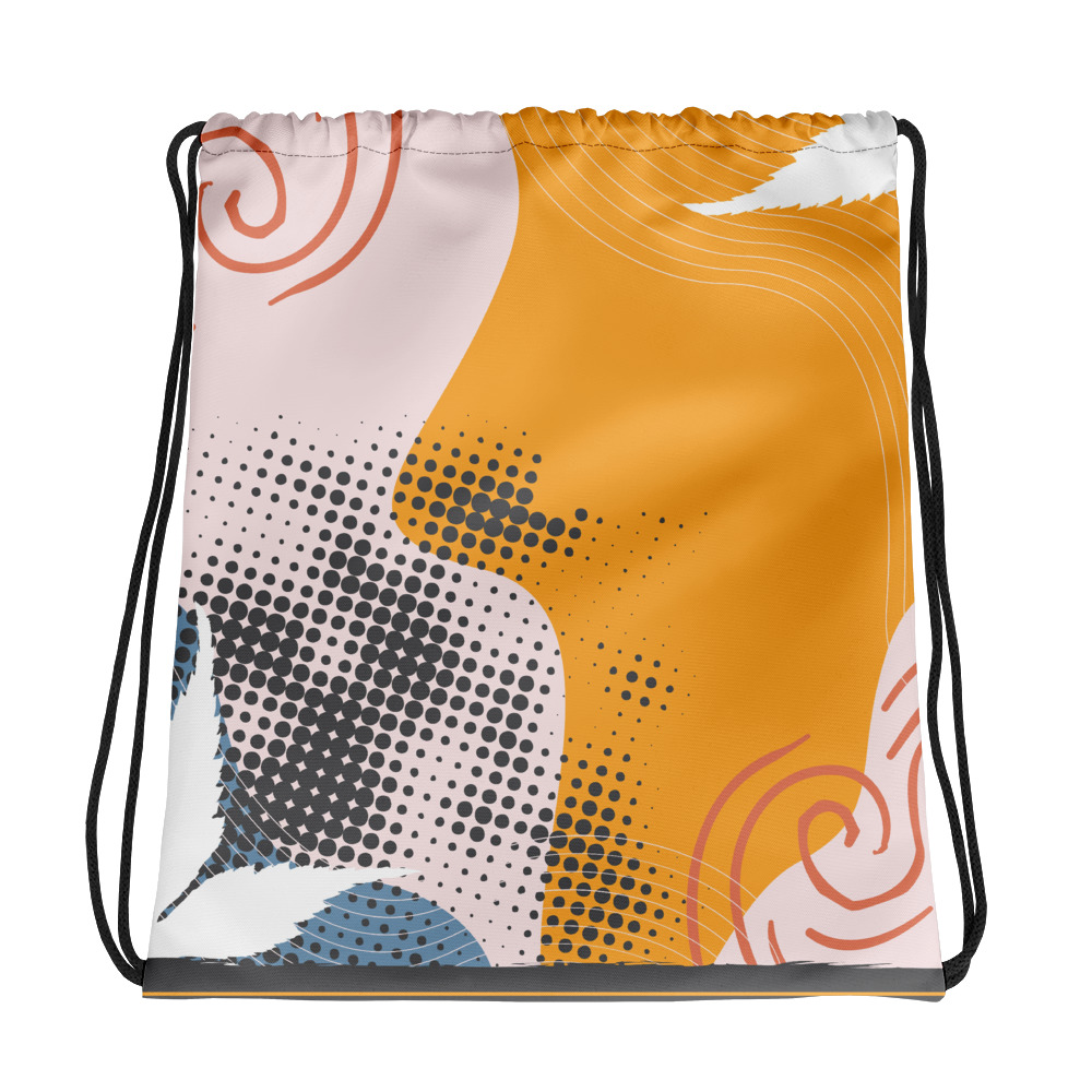 Abstract Pattern 35 All-Over Print Drawstring Bag