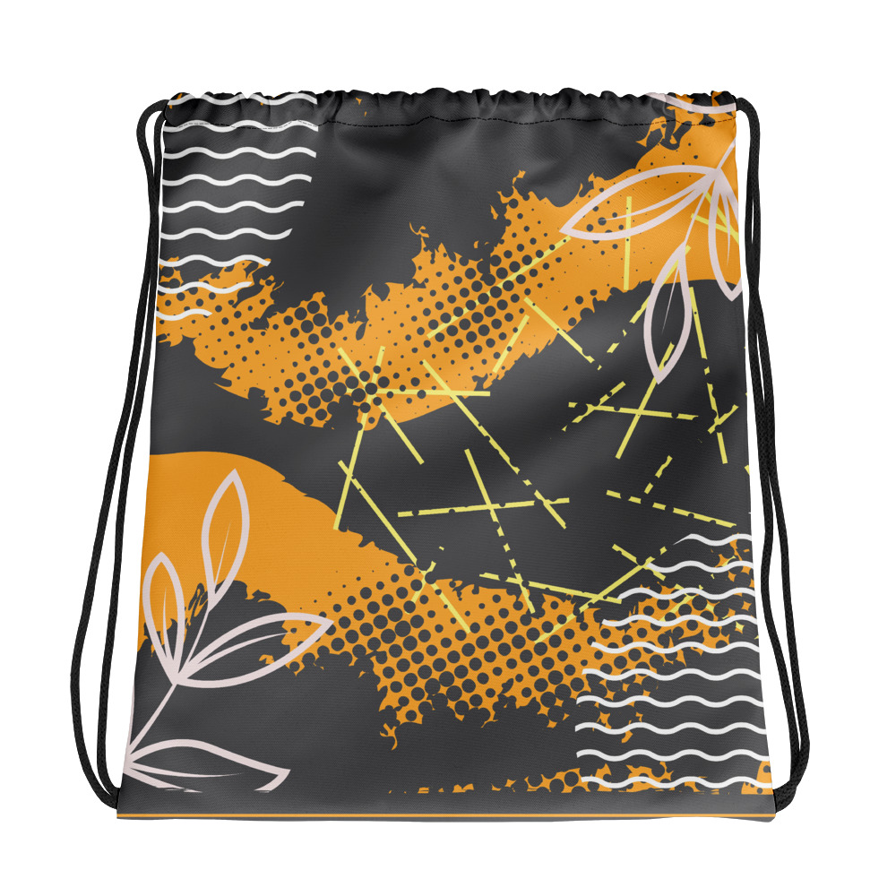 Abstract Pattern 36 All-Over Print Drawstring Bag