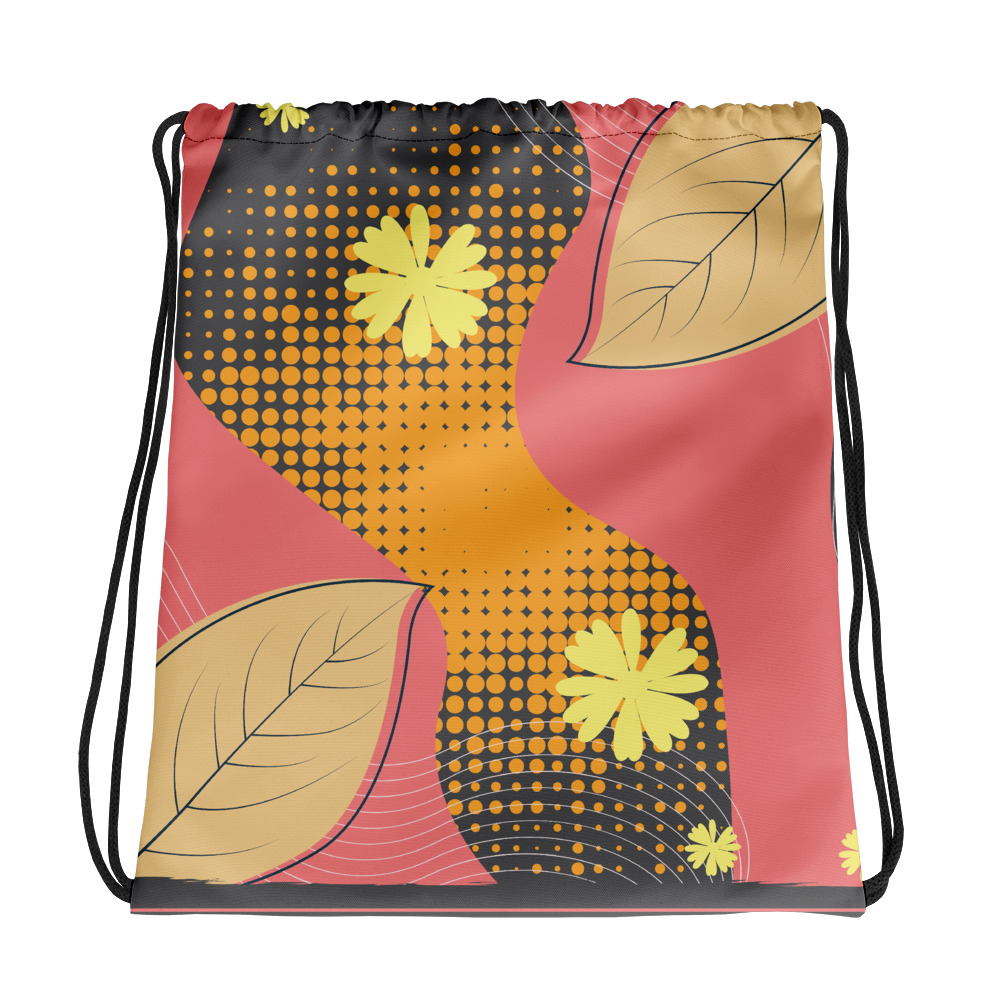Abstract Pattern 37 All-Over Print Drawstring Bag