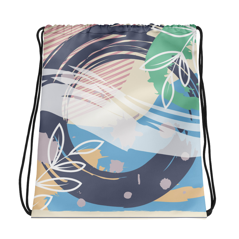 Abstract Pattern 38 All-Over Print Drawstring Bag