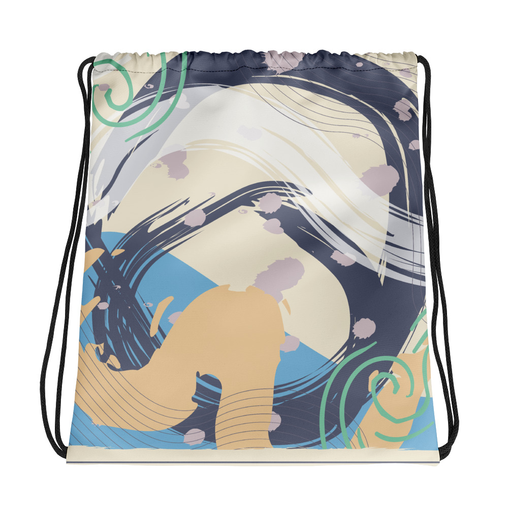 Abstract Pattern 39 All-Over Print Drawstring Bag