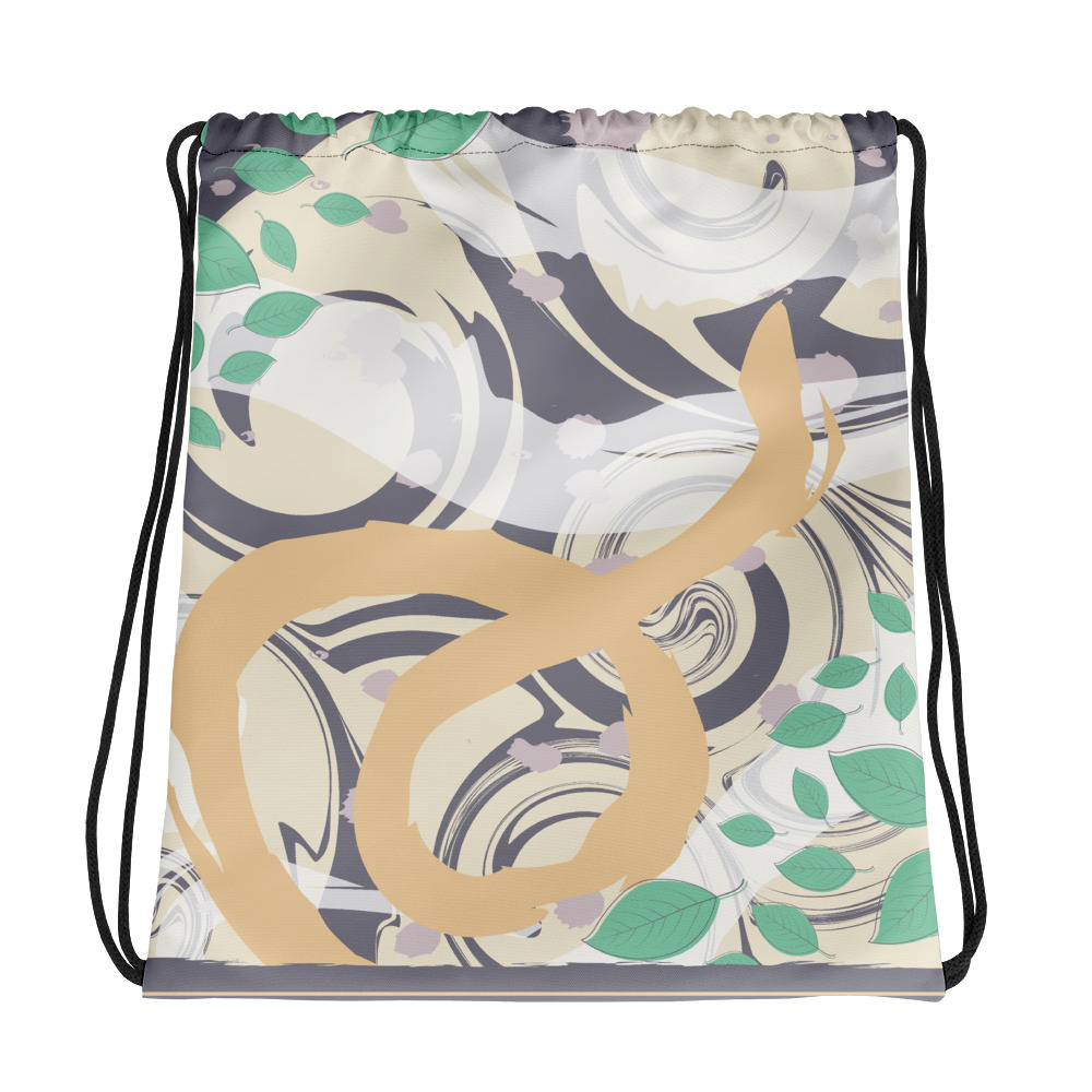 Abstract Pattern 41 All-Over Print Drawstring Bag