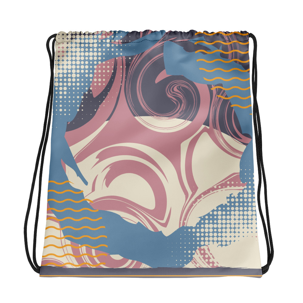 Abstract Pattern 42 All-Over Print Drawstring Bag