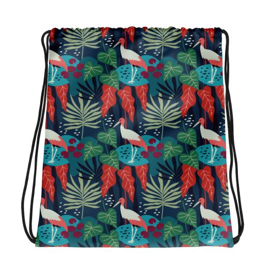 Spring Pattern Bird 9 All-Over Print Drawstring Bag