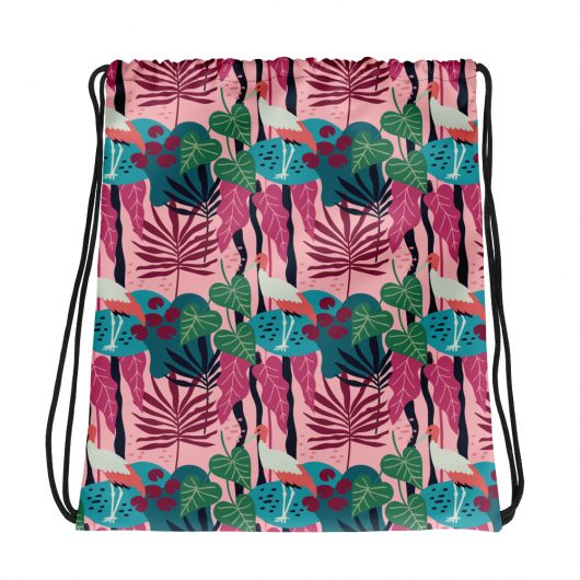 Spring Pattern Bird 11 All-Over Print Drawstring Bag