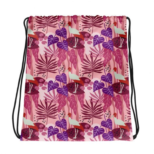 Spring Pattern Bird 12 All-Over Print Drawstring Bag