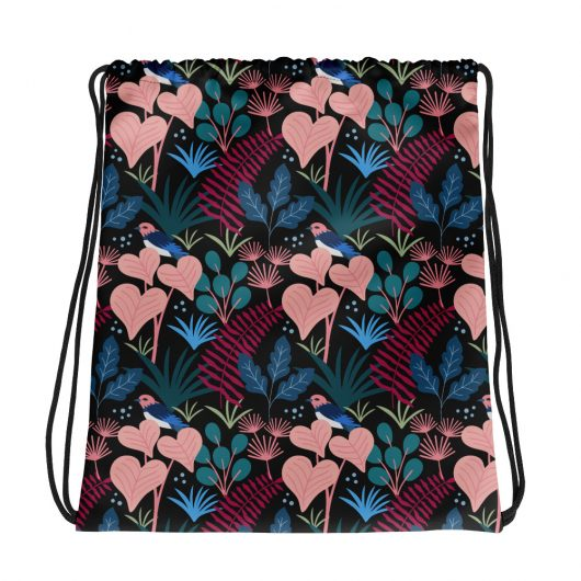 Spring Pattern Bird 14 All-Over Print Drawstring Bag