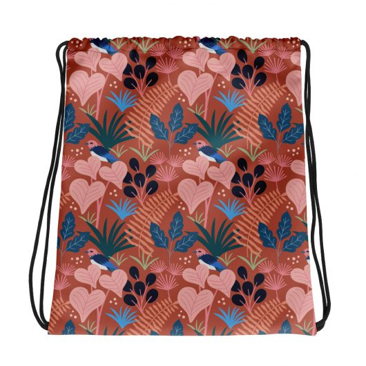 Spring Pattern Bird 15 All-Over Print Drawstring Bag