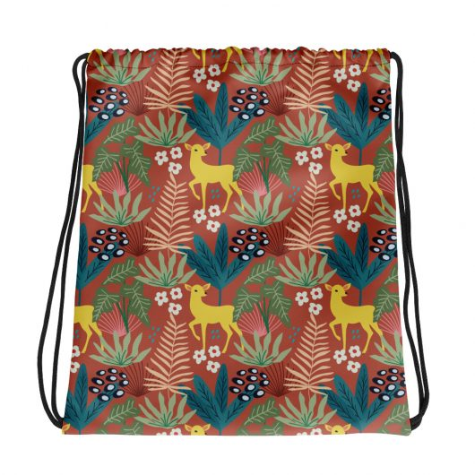Spring Pattern Deer 1 All-Over Print Drawstring Bag