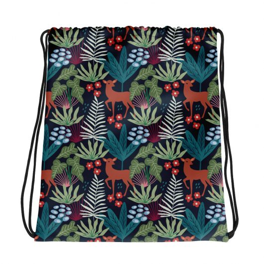 Spring Pattern Deer 3 All-Over Print Drawstring Bag
