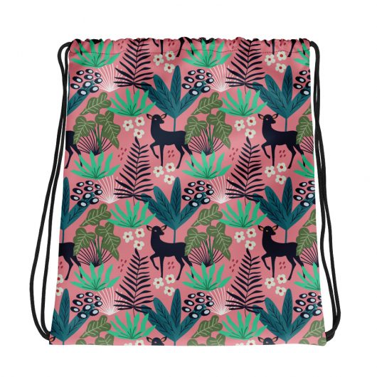 Spring Pattern Deer 4 All-Over Print Drawstring Bag