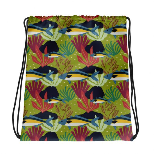 Spring Pattern Fish 1 All-Over Print Drawstring Bag