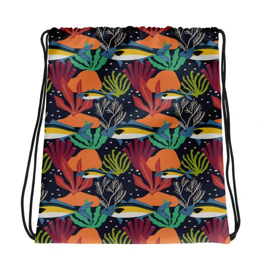 Spring Pattern Fish 4 All-Over Print Drawstring Bag