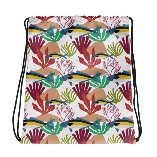 Spring Pattern Fish 6 All-Over Print Drawstring Bag