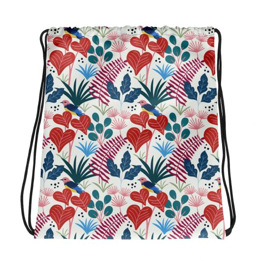 Spring Pattern Heart 1 All-Over Print Drawstring Bag
