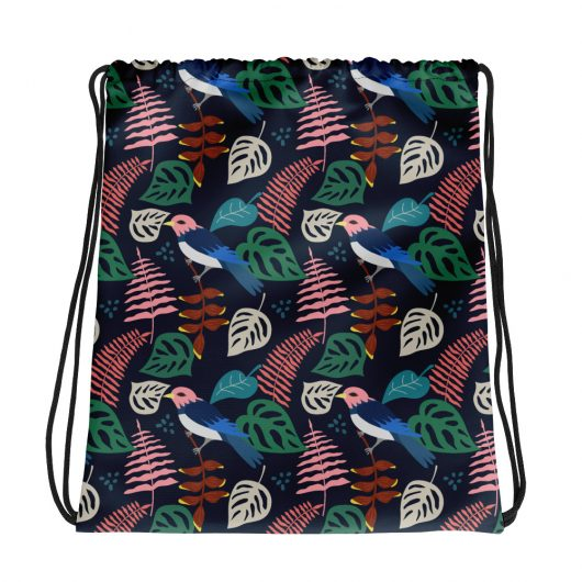 Spring Pattern Bird 1 All-Over Print Drawstring Bag