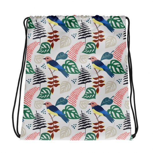Spring Pattern Bird 3 All-Over Print Drawstring Bag