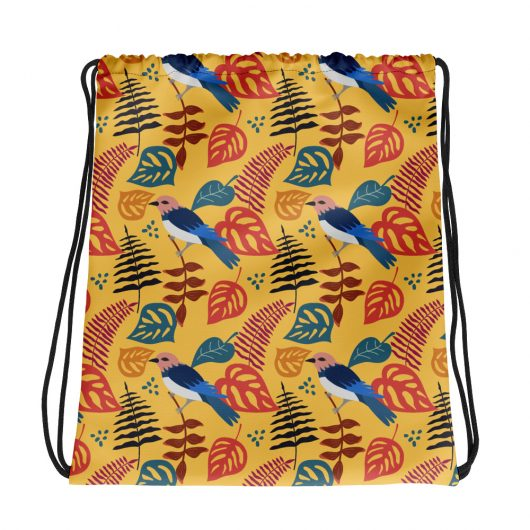 Spring Pattern Bird 4 All-Over Print Drawstring Bag