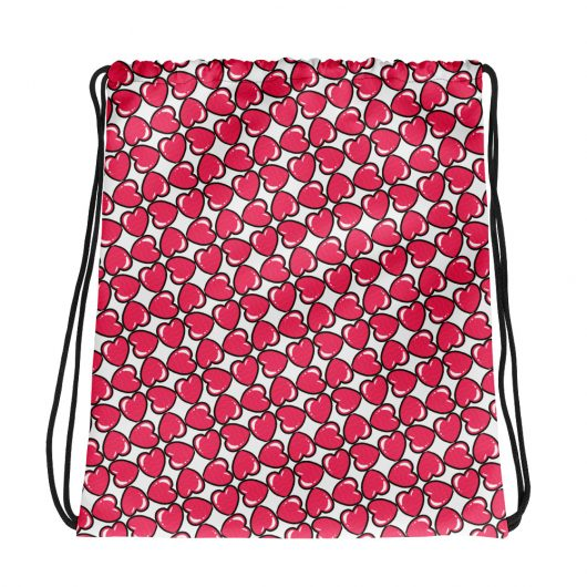 Baby Hearts All-Over Print Drawstring Bag