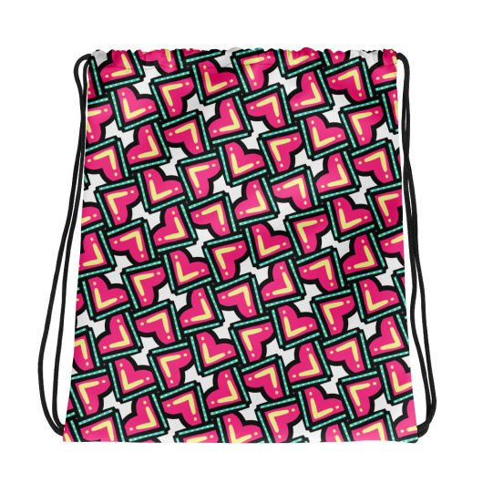 Confused Hearts All-Over Print Drawstring Bag