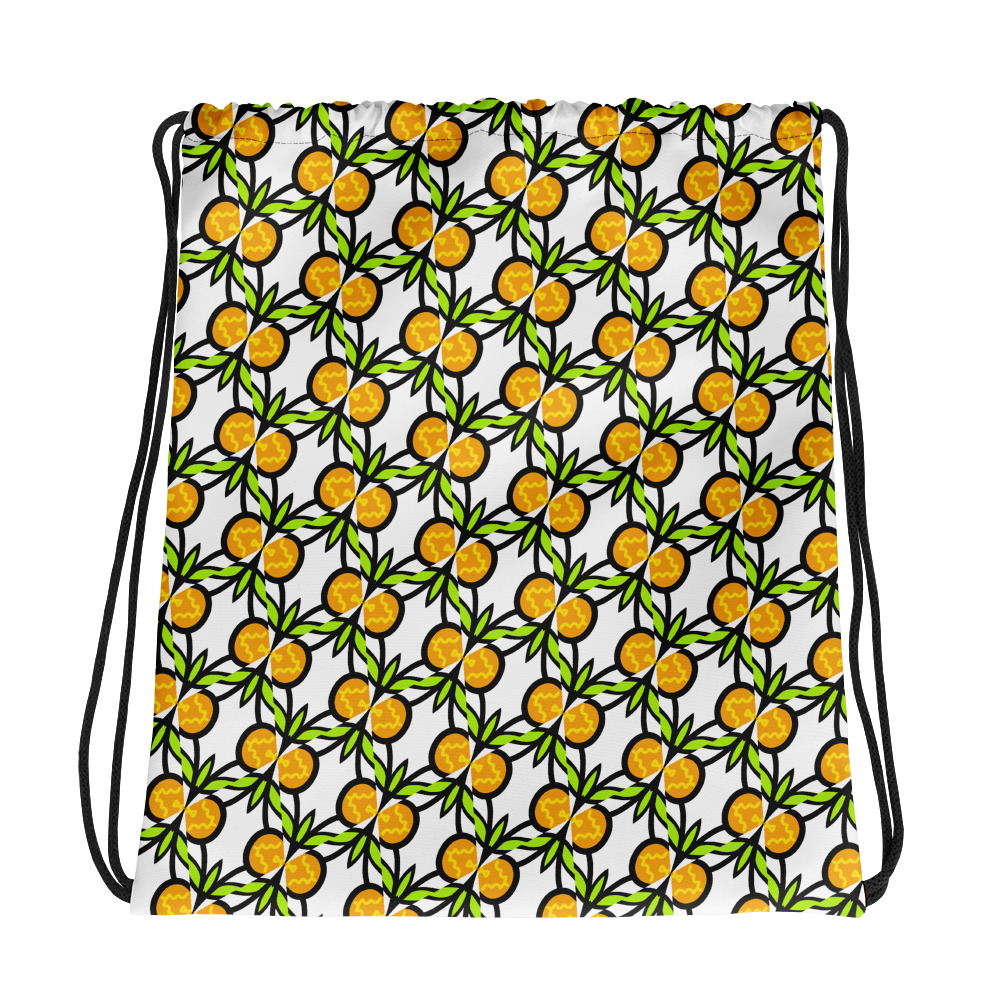 Is This Pineapple All-Over Print Drawstring Bag
