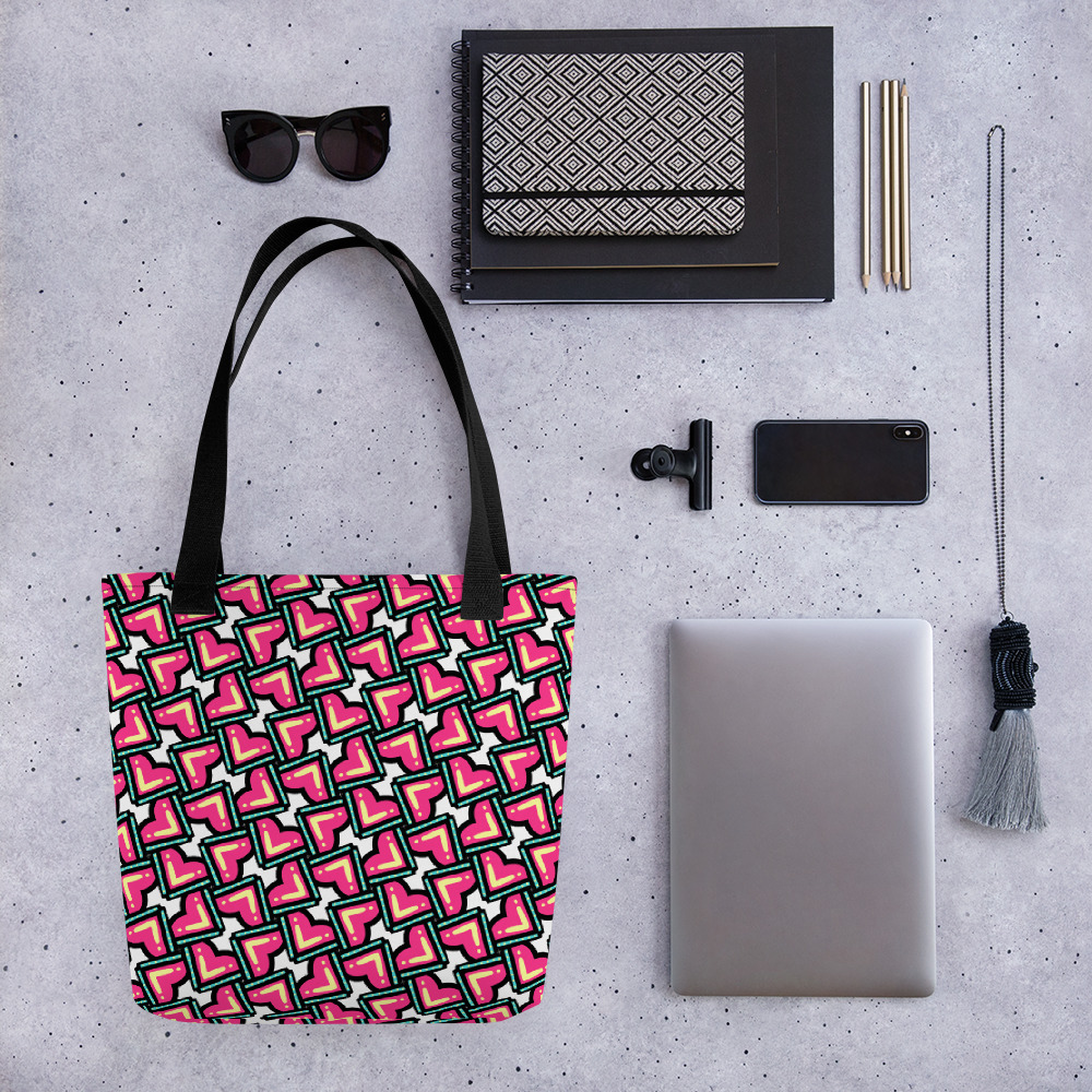 Confused Hearts All-Over Print Tote Bag