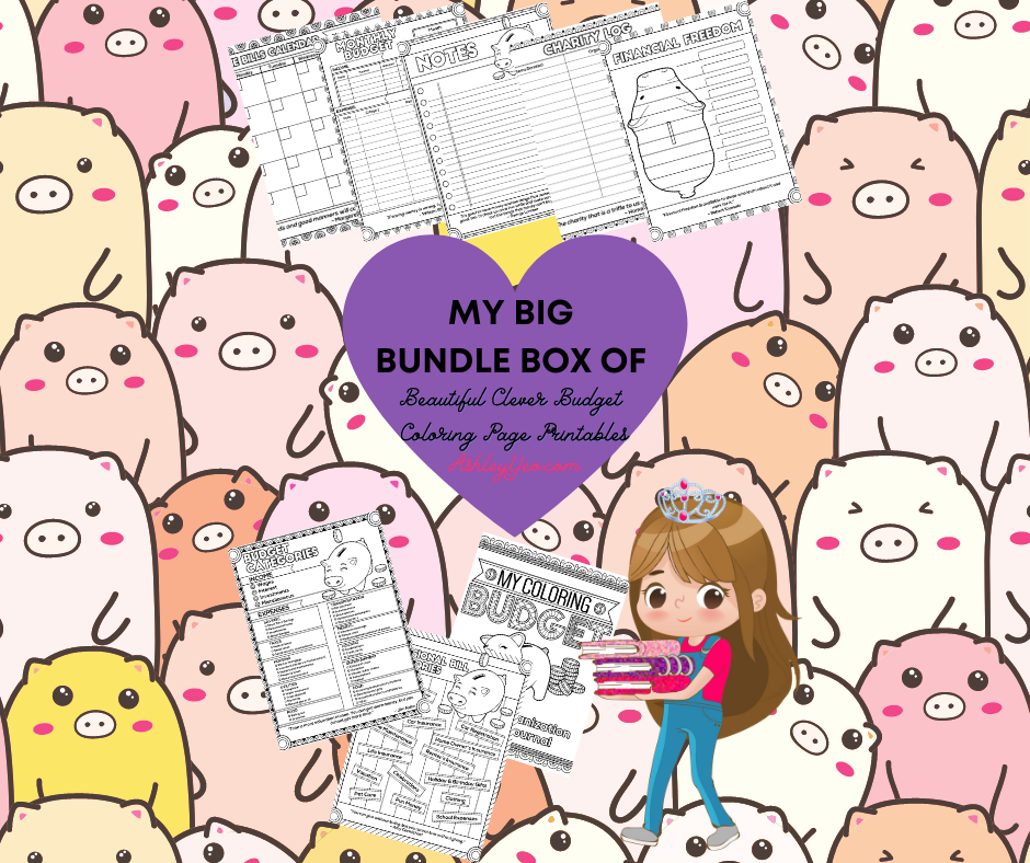 My Big Bundle Box Of Beautiful Clever Budget Coloring Page Printables