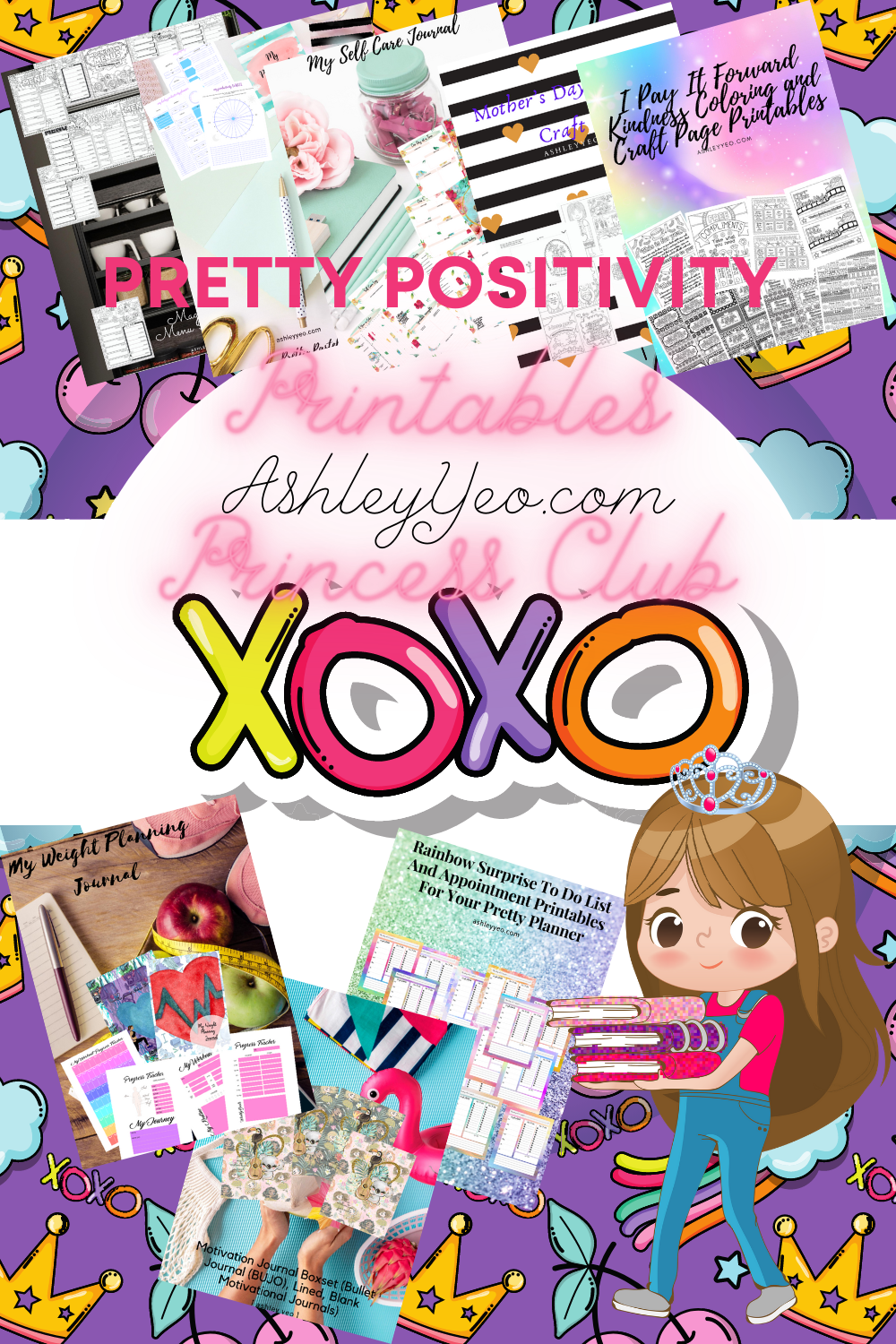 Pretty Positivity Printables Princess Club
