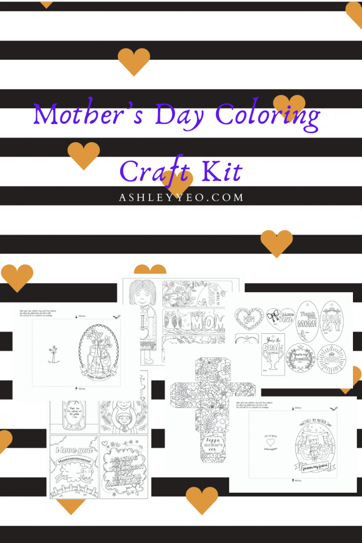 Mother's Day Coloring Craft Kit Mockup