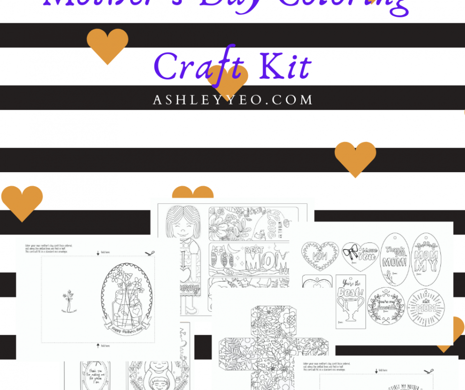 Mother's Day Coloring Craft Kit