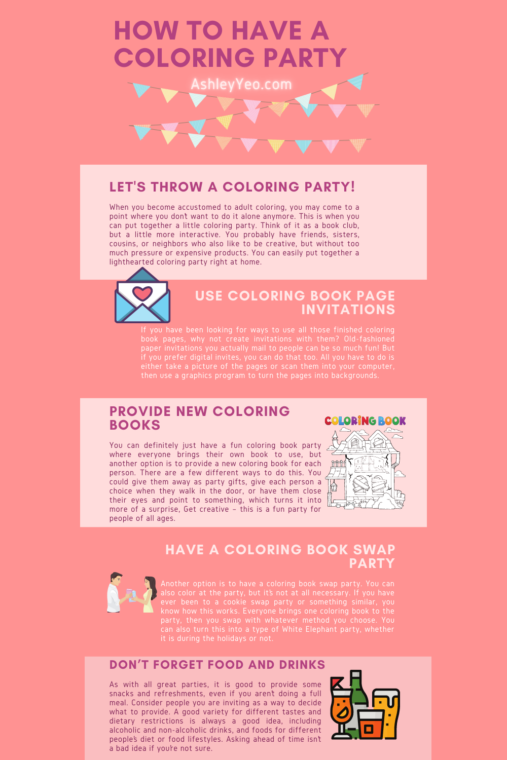 How to Have a Coloring Party Infographic
