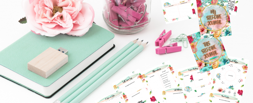 My Sweet Floral Self-Care Journal Printables For My Happiness