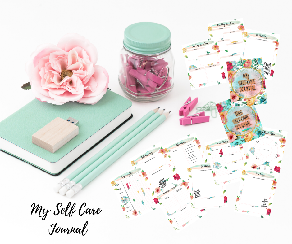 My Sweet Floral Self-Care Journal Printables For My Happiness Are Out!