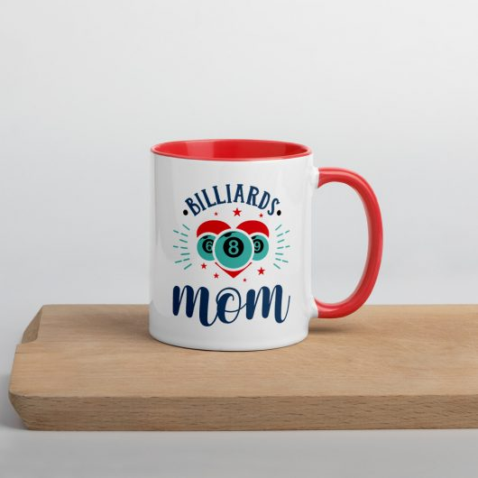Billiards Mom Mug with Color Inside
