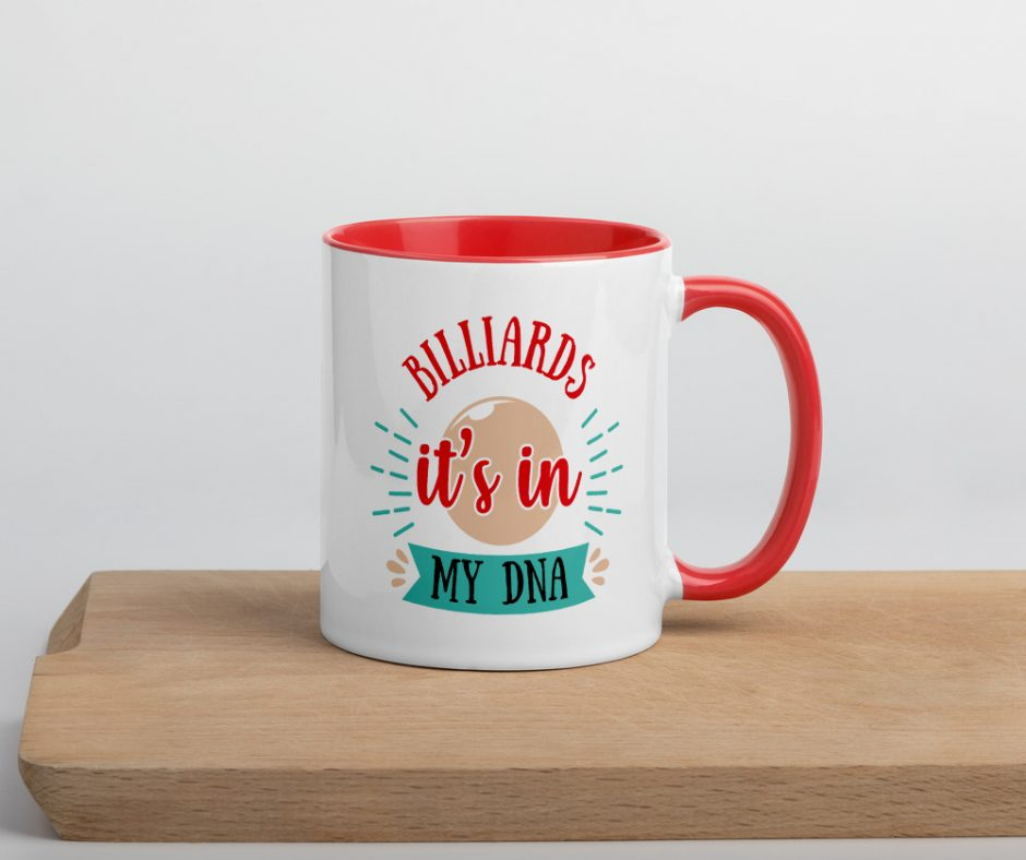 Billiards Its In My DNA Mug with Color Inside