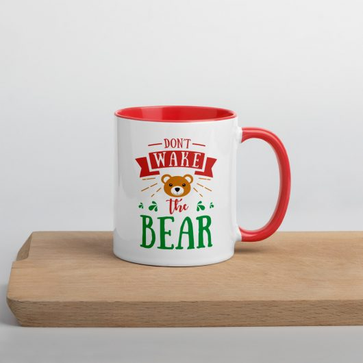 Dont Wake The Bear Mug with Color Inside