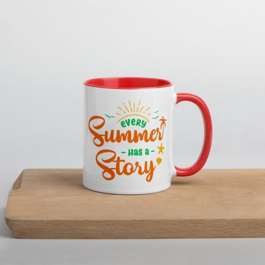 Every Summer Has A Story Mug with Color Inside